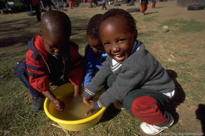 Image washing hands in Lesotho