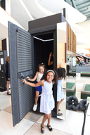 Back to the present: A time machine installation on data for children - UNHQ - 2016