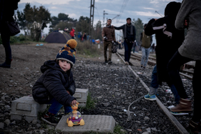 Refugees and migrants at the border in Greece - 2015