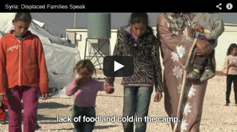 Photos & Video: From OCHA: Families displaced speaks