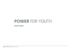 Style guide for using Power for Youth logo