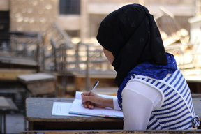 Children cross conflict zones to sit for exams – Syrian Arab Republic – 2017