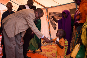UNICEF Deputy Executive Director, Mr. Omar Abdi visits Temporary Resettlement Sites (TRS) in Warder town, Somali region, Ethiopia