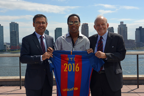 FC Barcelona /UNICEF promote safe and inclusive sport for children - United Nations Headquarters - 2016