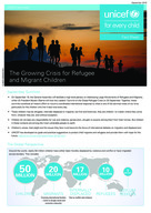 (English) UNICEF Fact Sheet: The Growing Crisis for Refugee and Migrant Children - 4pp