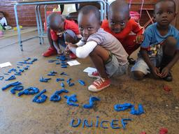 Boys with modeling clay _ Sedibathuto Primary School_Soweto_South Africa